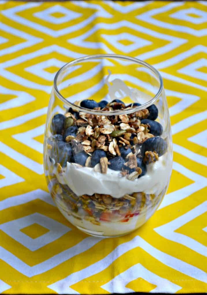 Grab your favorite fruit and make these Honey Vanilla Yogurt Parfaits with homemade granola