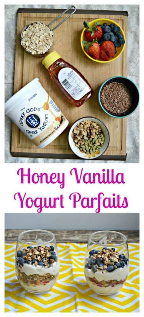 Honey Vanilla Yogurt Parfaits are a delicious choice for dessert or breakfast!