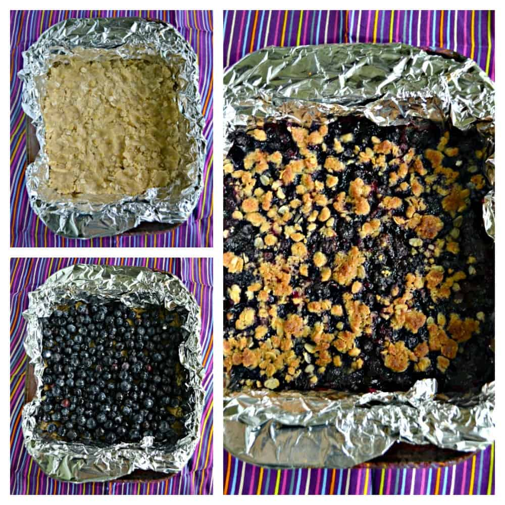 It's easy to make these bursting Blueberry Oatmeal Bars