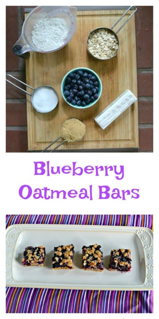 Everything you need to make Blueberry Oatmeal bars