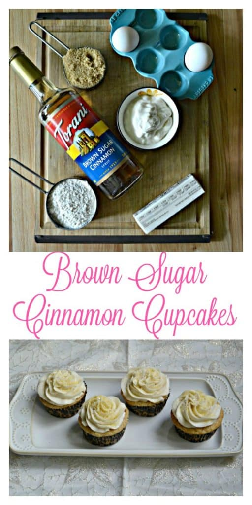 Everything you need to make Brown Sugar Cinnamon Cupcakes
