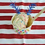 No Churn Patriotic Funfetti Ice Cream #SummerDessertWeek