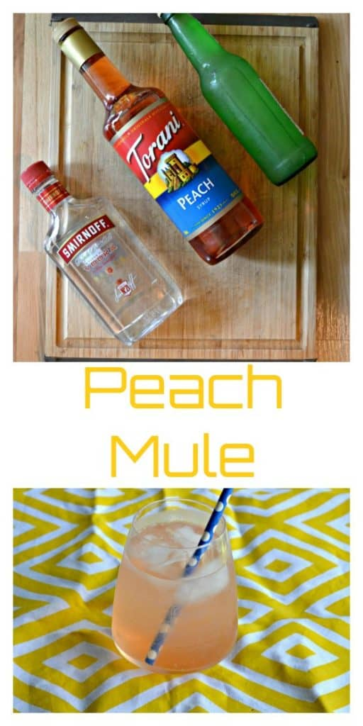 Everything you need to make a Peach Moscow Mule