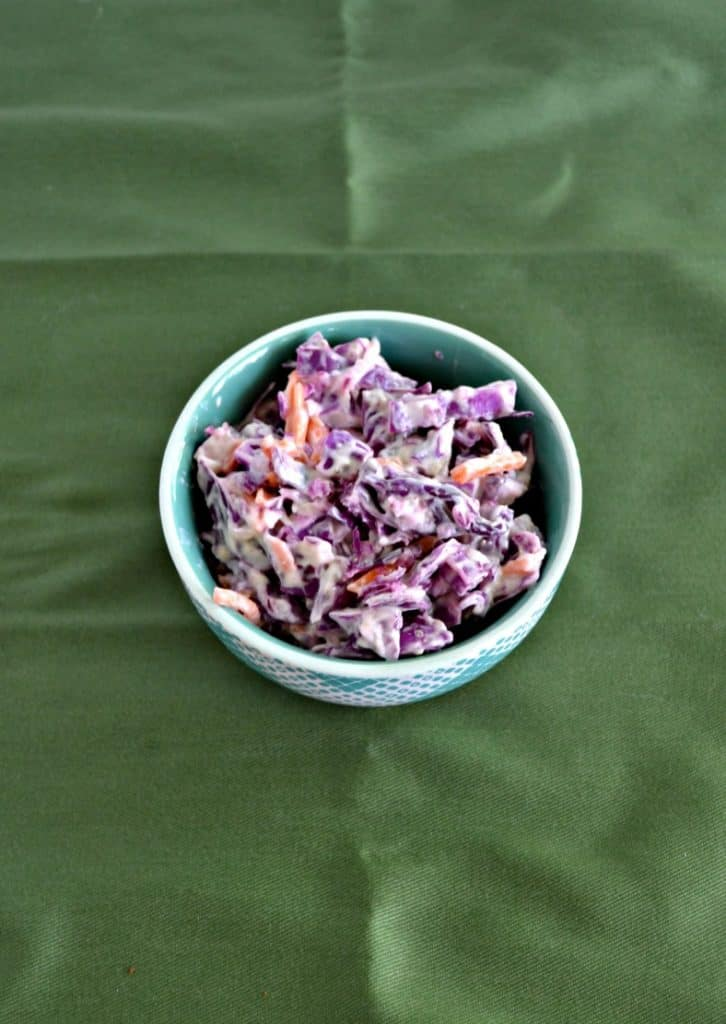 Red Cabbage Cole Slaw is perfect for a picnic!