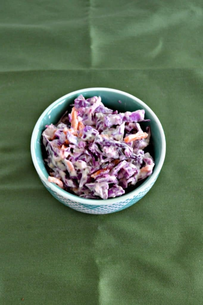 Red Cabbage Cole Slaw is a delicious summer side!