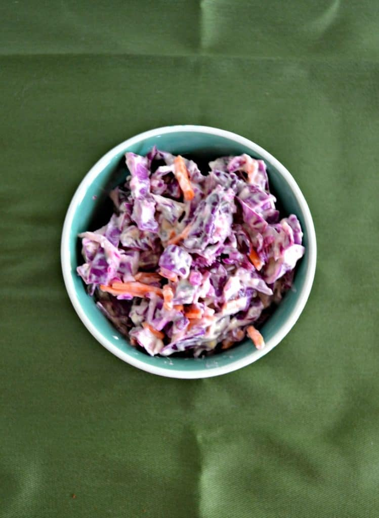 Grab a fork and dig into this Red Cabbage Cole Slaw