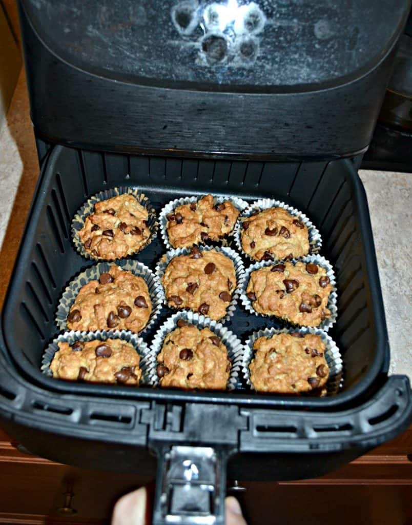 Delicious Air Fryer Oatmeal Almond Chocolate Chip Muffins