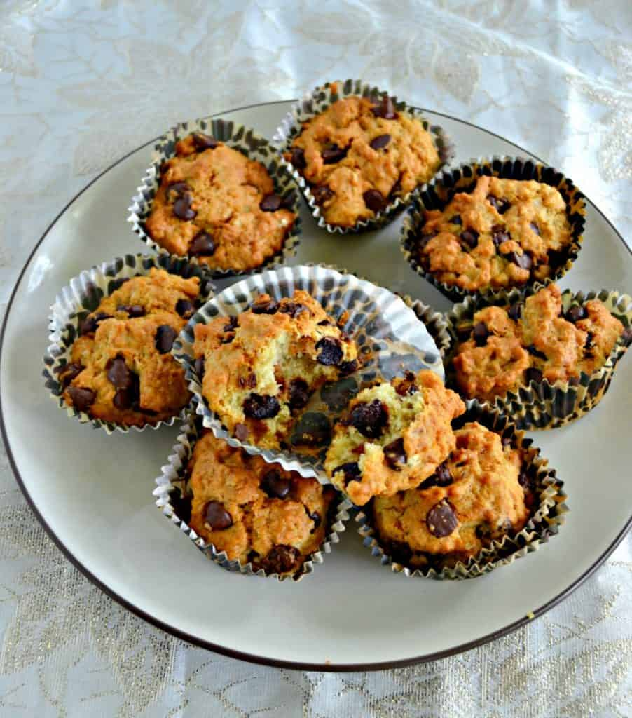 Take a bite out of these awesome Air Fryer Oatmeal Almond Chocolate Chip Muffins!