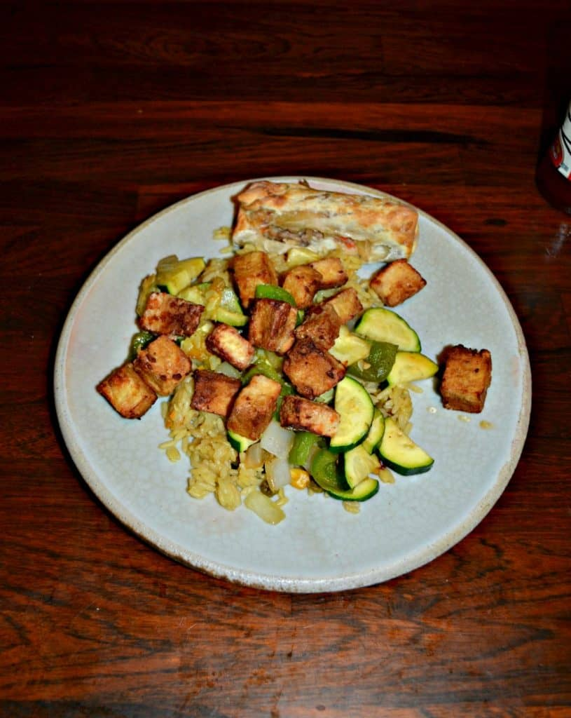 It's easy to make Crispy Tofu in the Air Fryer in minutes!