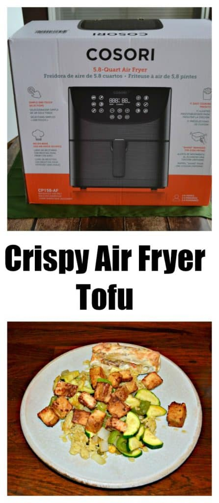 The COSORI Air Fryer is awesome for making this Crispy Air Fryer Tofu
