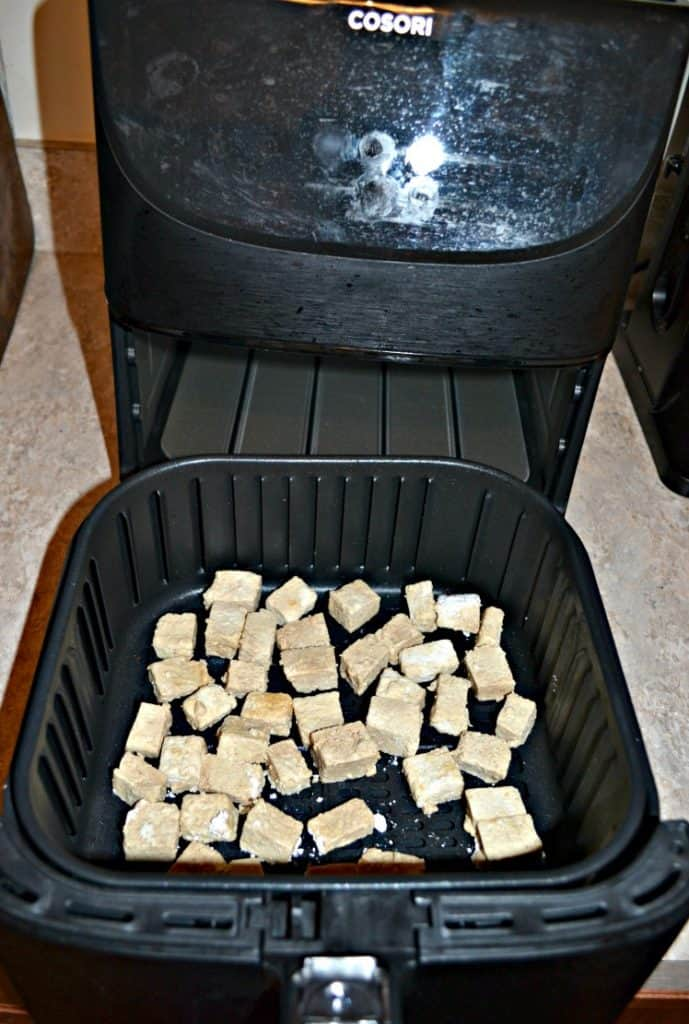 Tofu in the Air Fryer comes out crispy and delicious!