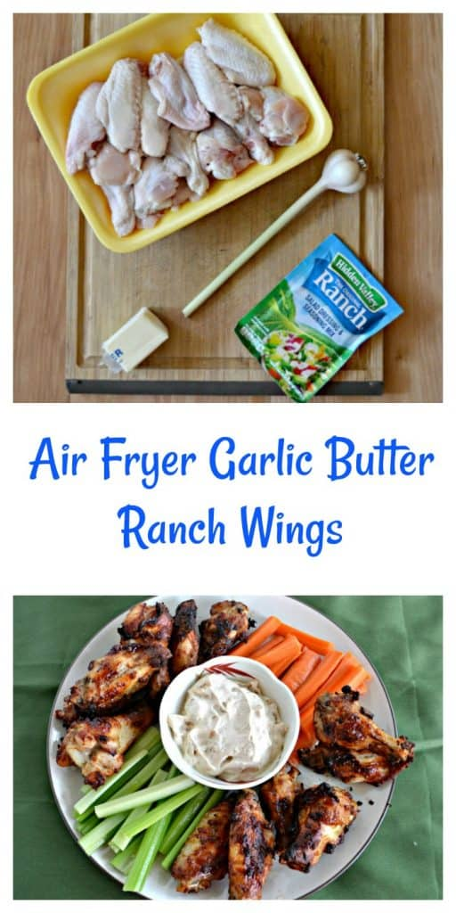 Everything you need to make Air Fryer Garlic Butter Ranch Wings