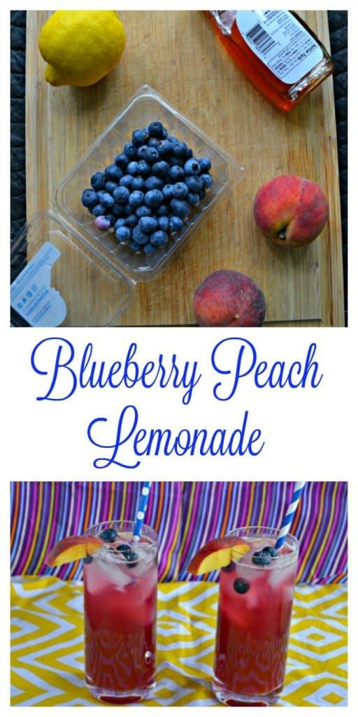 It doesn't get much better then homemade Blueberry Peach Lemonade