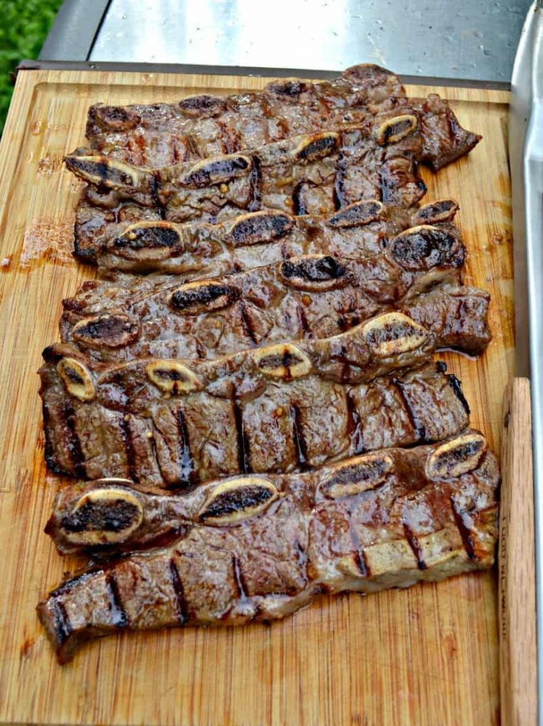 These Beer and Lime Marinated Flanken Style Short Ribs are awesome on the grill!