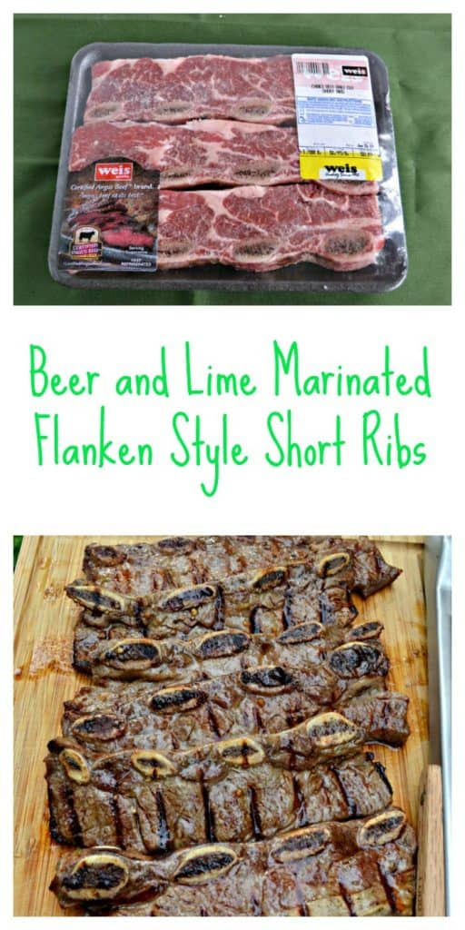 Beer and Lime Marinated Flanken Style Short Ribs