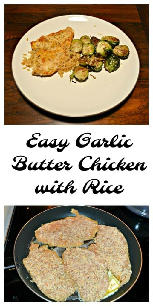 Kid friendly Easy Garlic Butter Chicken with Rice is perfect for school nights!