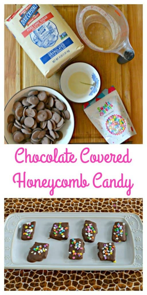 Everything you need to make this melt in your mouth Chocolate Covered HOneycomb Candy