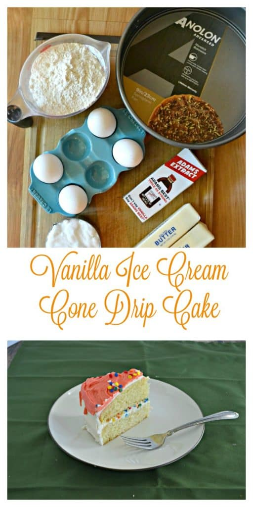 Vanilla Ice Cream Cone Drip Cake is easier to make then you think!