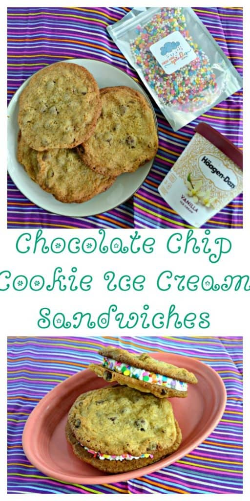 Everything you need to make awesome Chocolate Chip Cookie Ice Cream Sandwiches