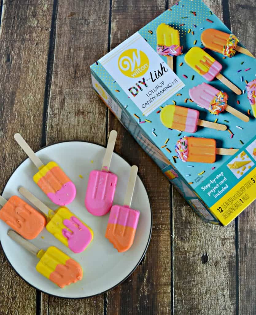How fun are these little popsicle candies made with a Wilton DIY kit?