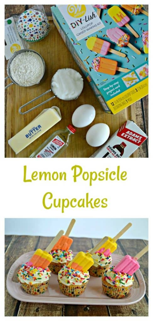 Everything you need to make Lemon Popsicle Cupcakes