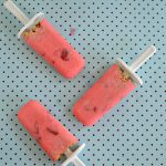 Strawberry Yogurt Pops with Granola #Back2School
