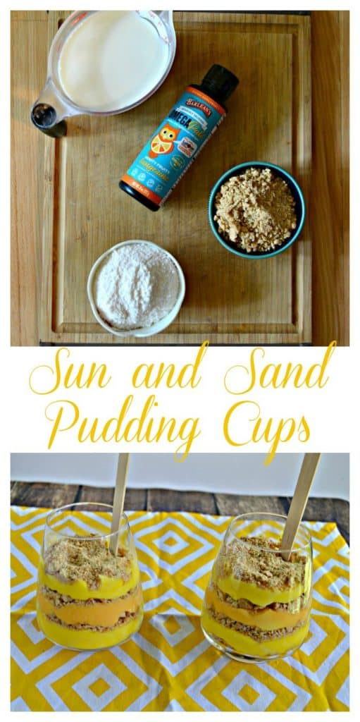 It's so easy to make these fun Sun and Sand Pudding Cups for kids!