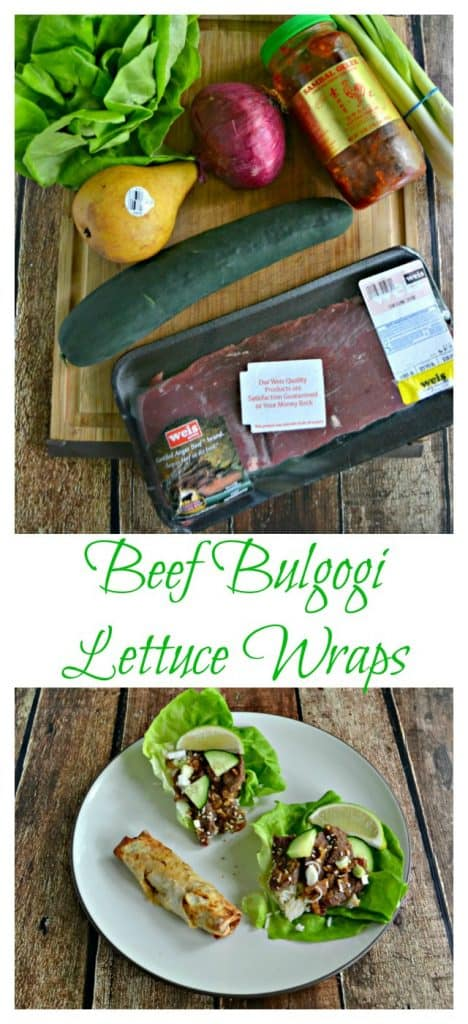 It only takes a few ingredients to make a fresh and flavorful Beef Bulgogi Lettuce Wrap