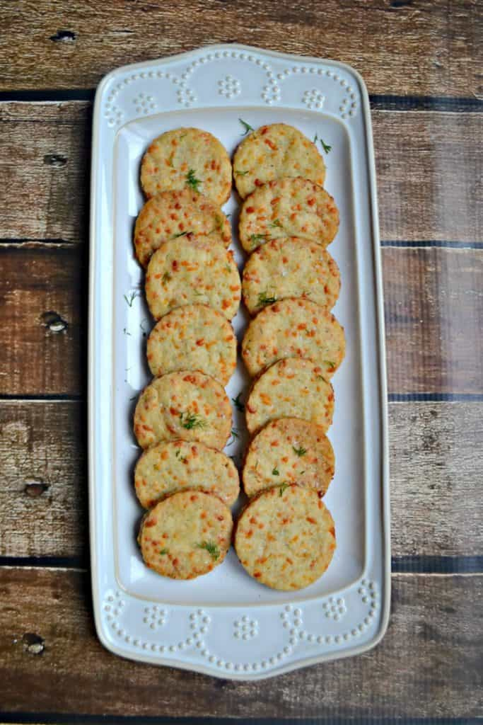 Cheddar Herb Crackers are the perfect after school snack