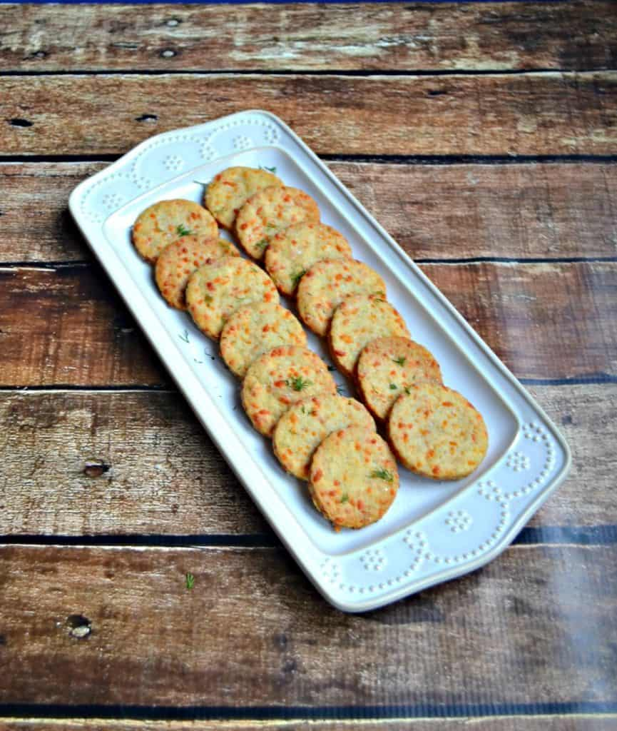 Have a few of these Chedder Herb Biscuits (crackers) for a snack!