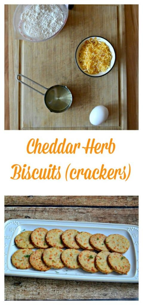 It's super easy to make Cheddar Herb Crackers!