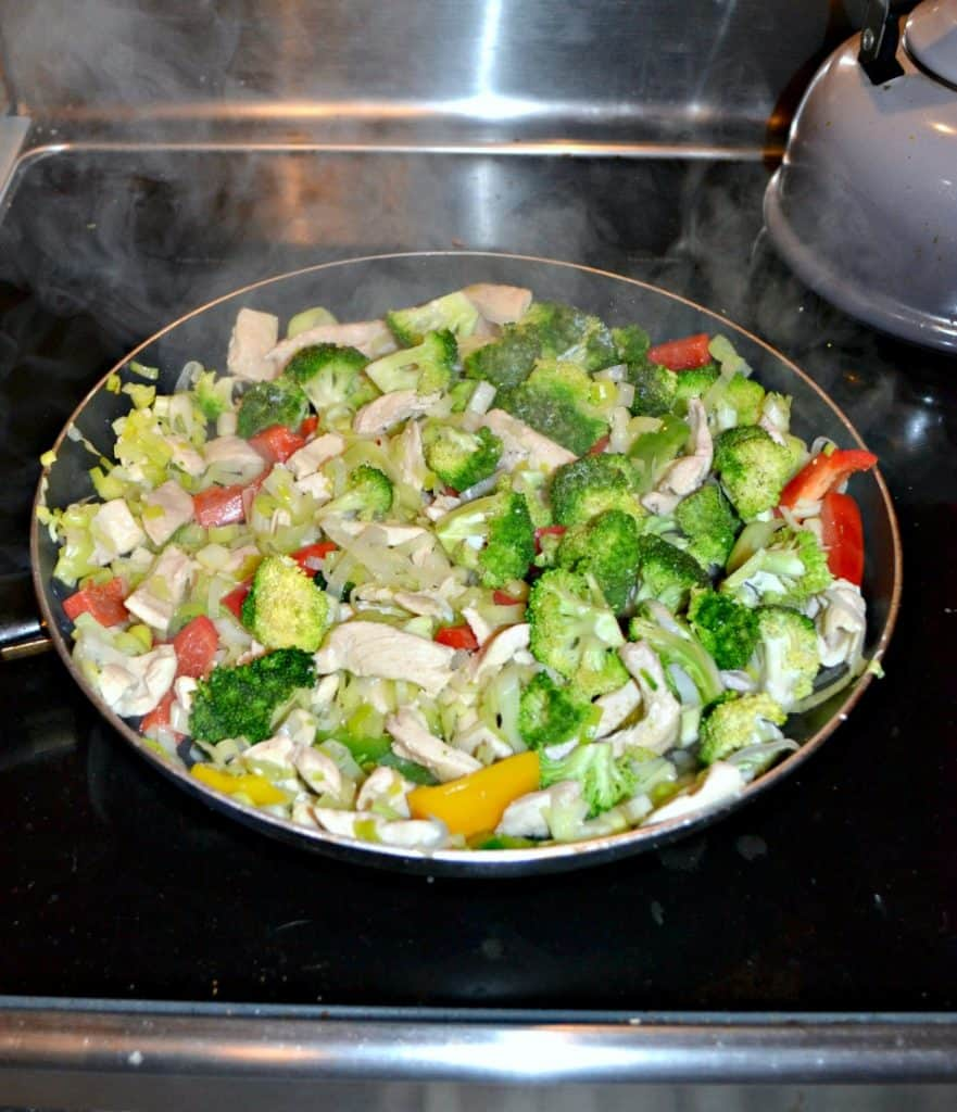 Chicken Stir Fry with Leeks and Salt & pepper Lettuce is a flavorful weeknight meal.