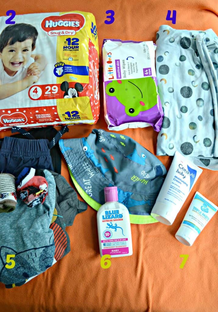 "Things to pack for your ""leave at daycare"" bag"
