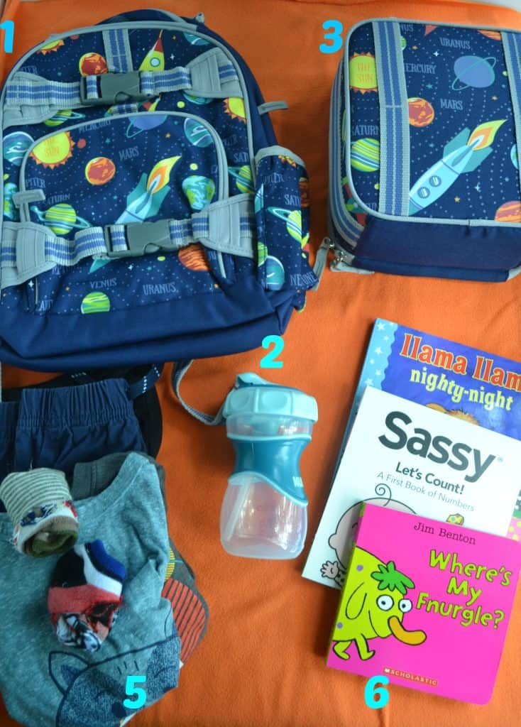 Things I pack daily to take to daycare