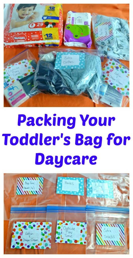 Packing Your Toddler's Bag for Daycare