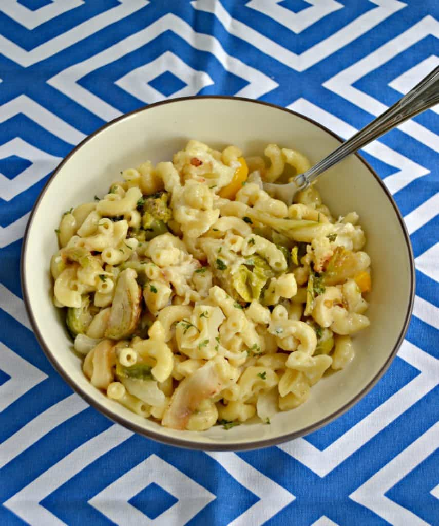 Roasted Vegetable Mac n Cheese is a delicious and hearty winter holiday side dish.