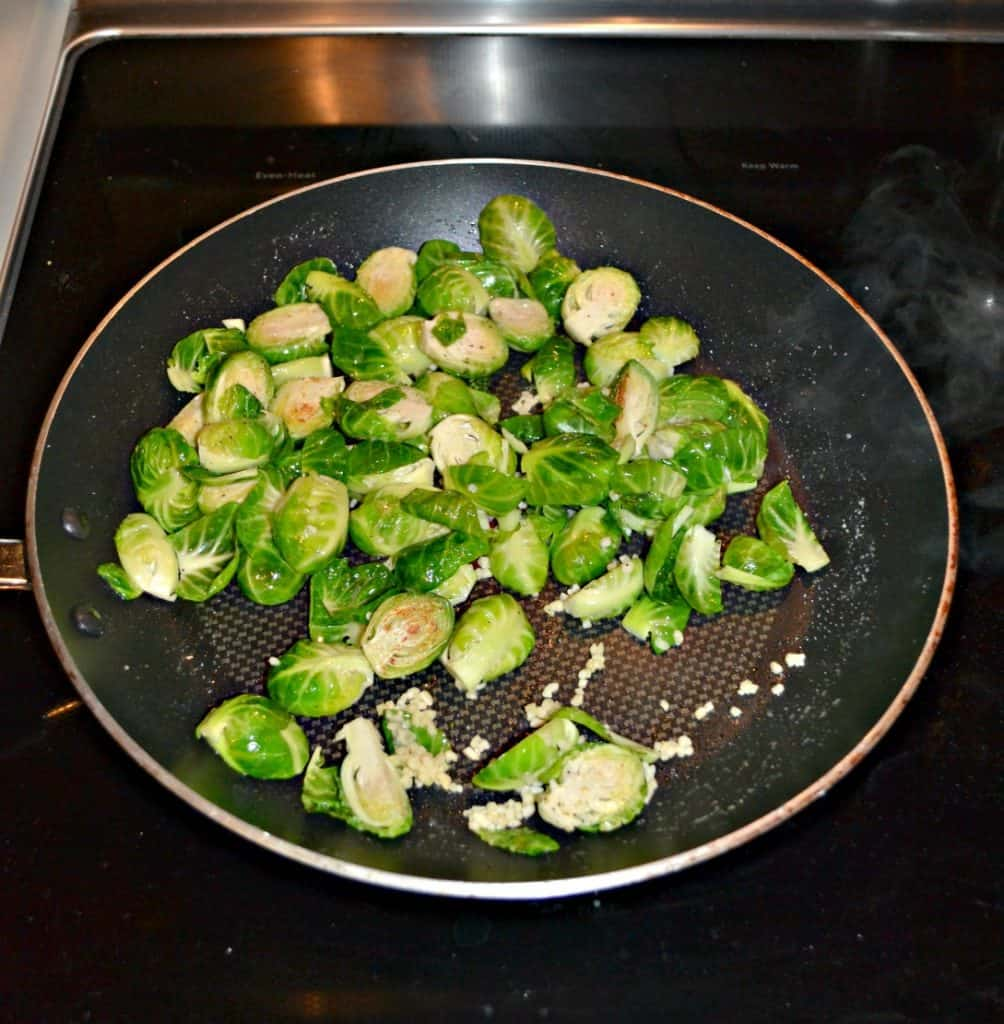 Saute a pan of tasty Balsamic Mustard Brussels Sprouts