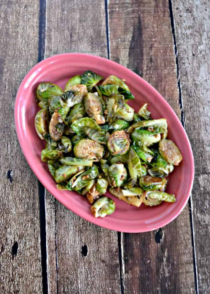 Balsamic Mustard Brussels Sprouts