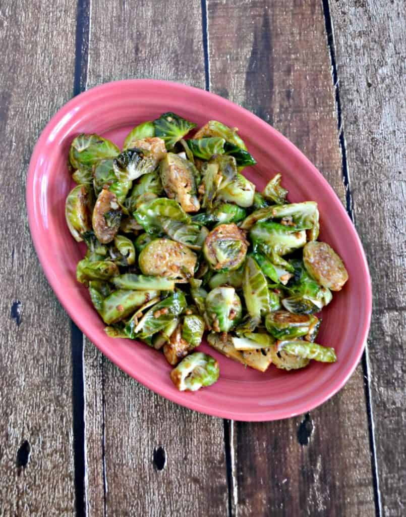 Looking for a holiday side dish? Give these fresh Balsamic Mustard Brussles Sprouts a try