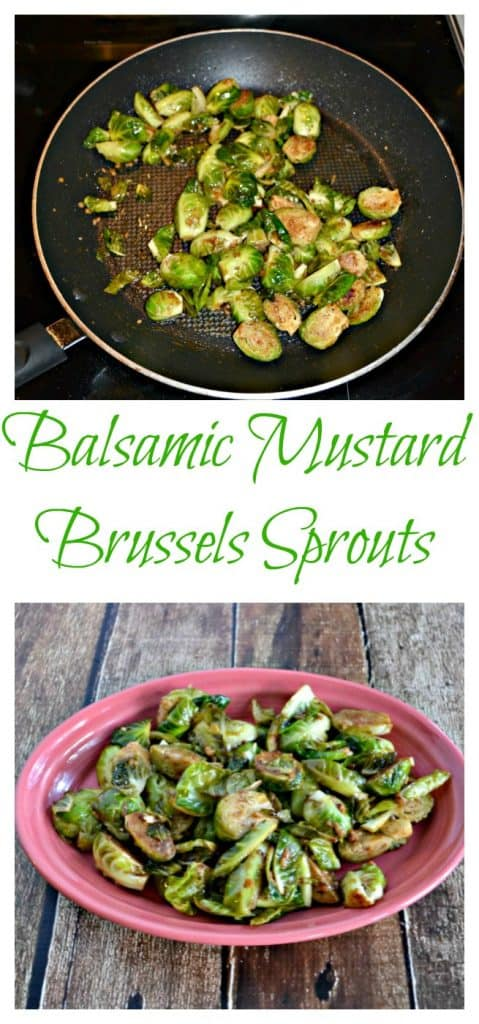 These skillet Balsamic Mustard Brussels Sprouts are easy and delicious