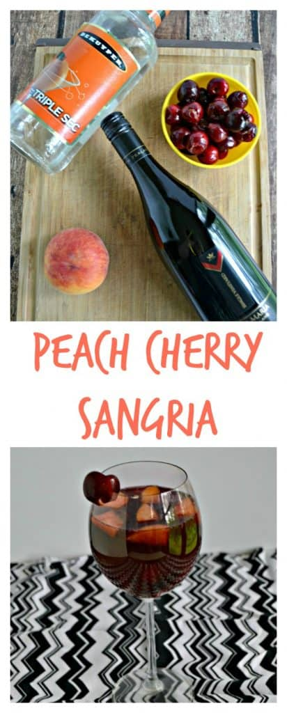 Grab your favorite stone fruits and make this tasty Peach Cherry Sangria.