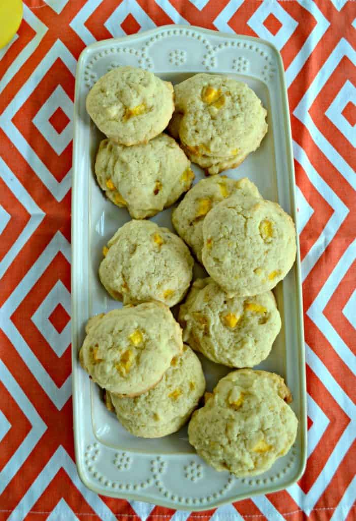 Peach Ginger Cookies are a flavorful cookie perfect for the end of summer.