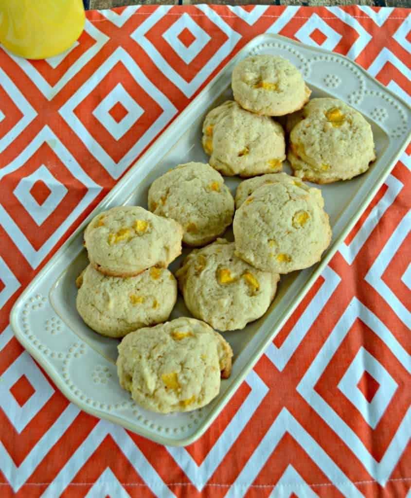 Peach Ginger Cookies are soft and flavorful.