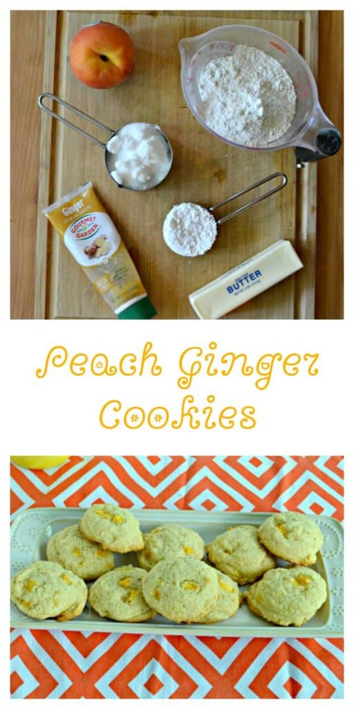 Peach Ginger Cookies are easy to make and taste delicious!