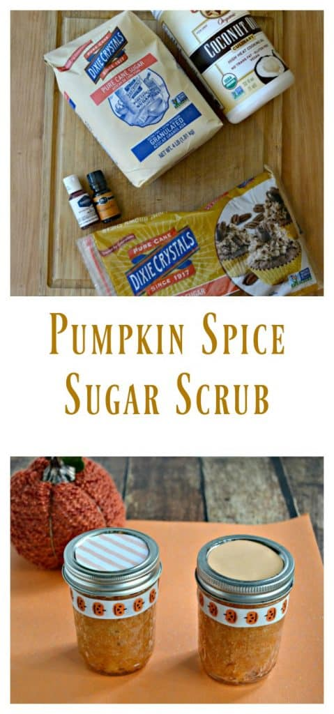 Pumpkin Spice Sugar Scrub is made with just 5 ingredients!