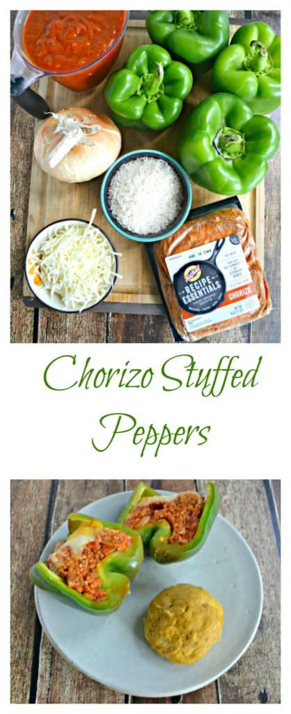 Chorizo Stuffed Peppers are a flavorful and delicious weeknight meal.