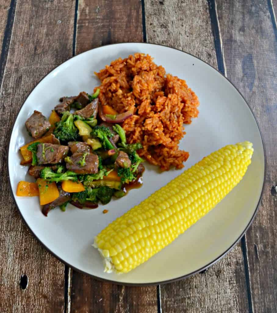 Looking for a quick and easy weeknight meal? Shaking Beef with Vietnamese Red Rice should be on your menu!