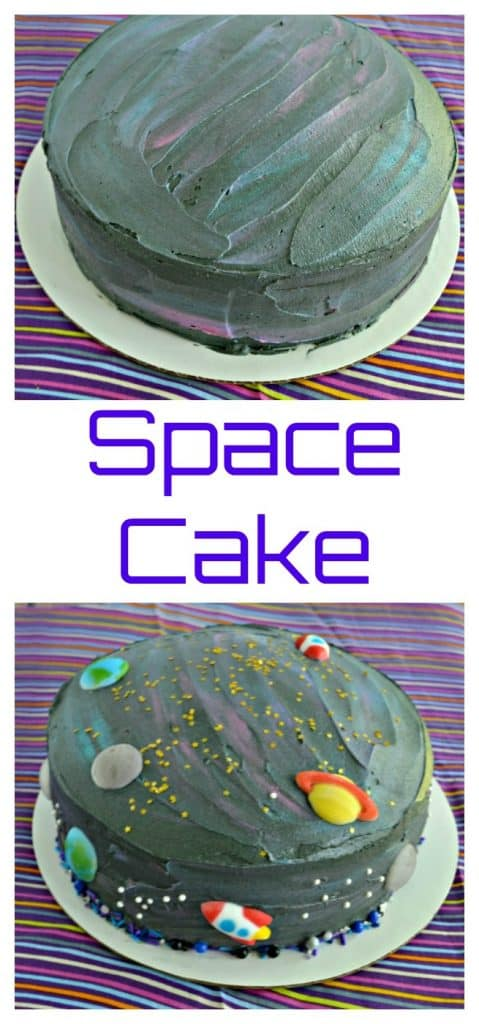 It's easier then you think to make this fun galaxy Space Cake!