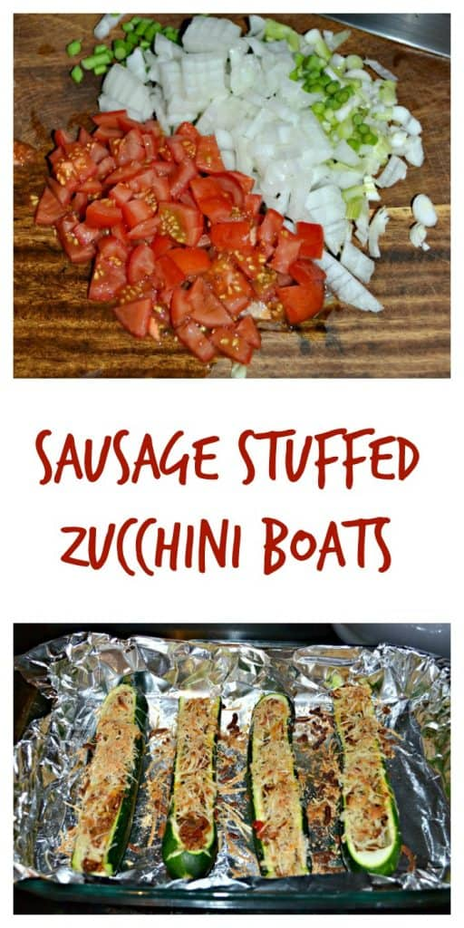 Stuff these zucchini boats full of sausage and vegetables