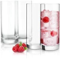 JoyJolt Stella Lead Free Crystal Highball Glasses